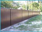 Фотография в Строительство и ремонт Другие строительные услуги Установим забор из профнастила .   от 300 в Уфе 300