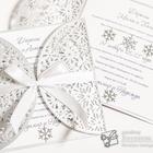 Свадебные приглашения для зимней, сказочно-красивой свадьбы