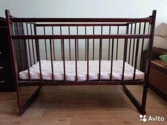 Детская кроватка фирменная, самовывоз все вопросы по телефону, , , Состояние: Б/у в Уфе