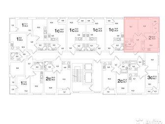 Продается 2к -квартира в ЖК «Яркий», Общая площадь квартиры – 45 кв, м, , кухня-гостинная 20, 9 кв, м, , комната 12,1 кв, м, , вторая комната 8, 8 кв, м, , коридор в Уфе