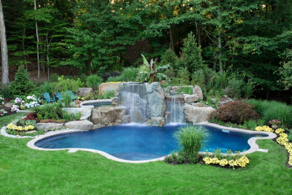 Ландшафтный дизайн с прудом