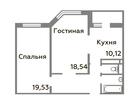 Продается 2-комн. кв-ра площадью 65,47 кв.м на 13 этаже 16 э