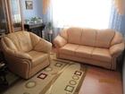 Фото в   Продаётся немного б/у кожаный диван и кр в Волгограде 17000