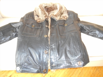 Новое изображение Дома Продаю зимнюю-кожаную куртку, (Италия) 48-50 41473137 в Москве