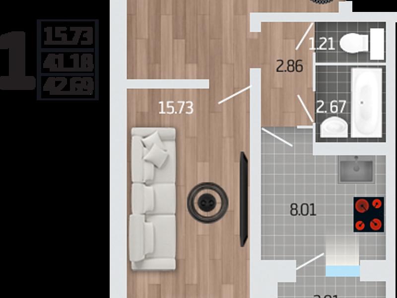 Купить однокомнатную квартиру на корейской воронеж
